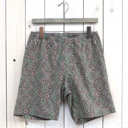 『Warm-up Short-Poly Taffeta/Paisley Print』(Olive)
