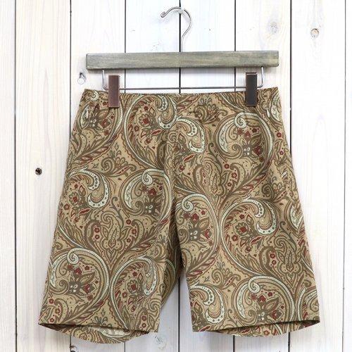 『Warm-up Short-Poly Taffeta/Paisley Print』(Beige)