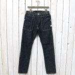 "SASSAFRAS ""Renewal""『FALL LEAF SPRAYER PANTS(13.5oz DENIM)』(INDIGO)"