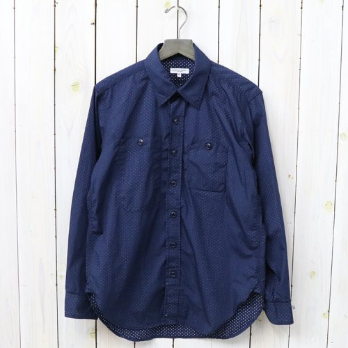 『Work Shirt-Mini Polka Dot Lawn』(Dk.Navy)