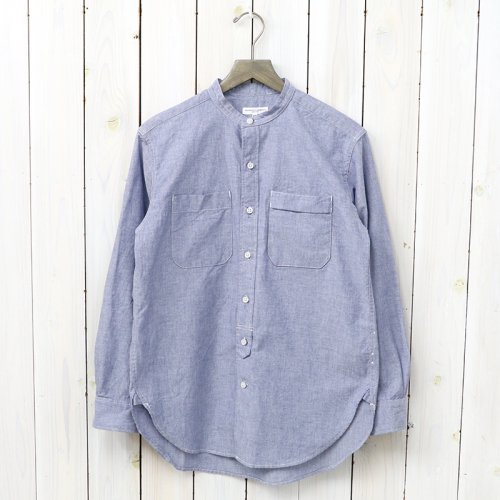 『Banded Collar Shirt-Lt.Weight Cotton Chambray』