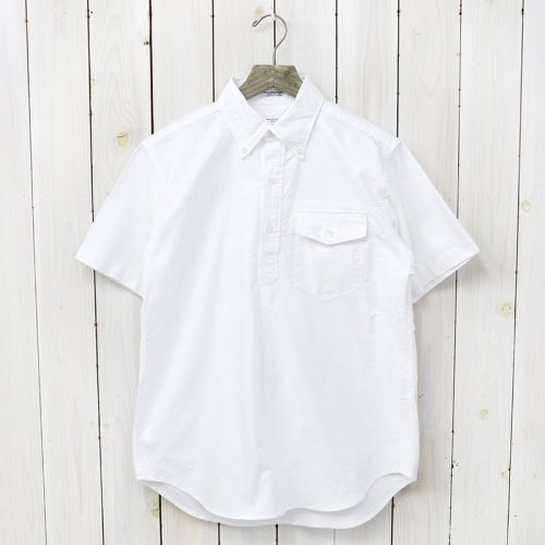 『Pop Over BD Shirt-Solid Cotton Oxford』(White)
