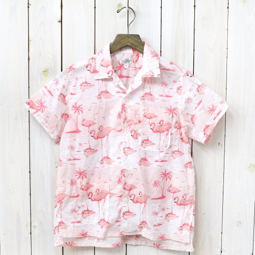 『Camp Shirt-Flamingo Print』