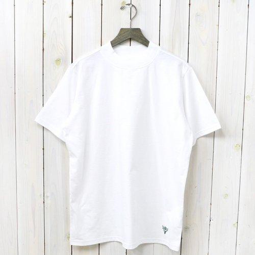 『Mock Neck S/S Tee-Cordura Jersey』(White)