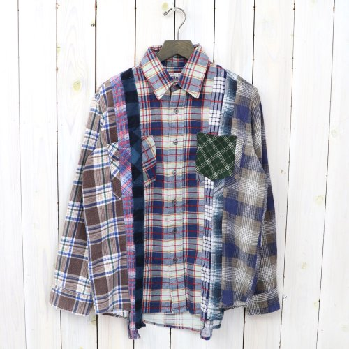 『7Cuts Flannel Shirt』(Assorted-XS)