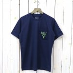 SOUTH2 WEST8『Round Pocket Tee-Circle Horn』(Navy)