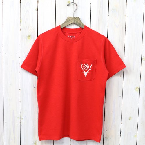 『Round Pocket Tee-Circle Horn』(Red)