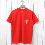SOUTH2 WEST8『Round Pocket Tee-Circle Horn』(Red)