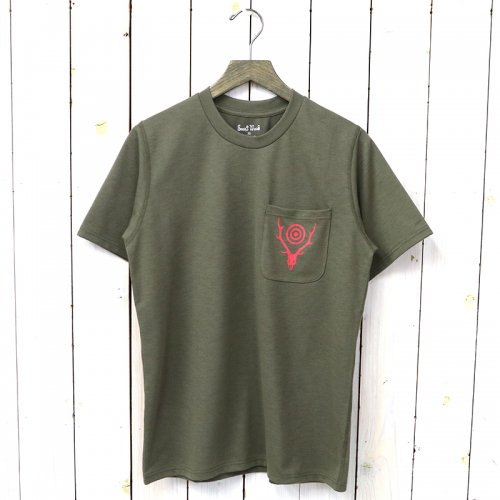 『Round Pocket Tee-Circle Horn』(Tan)