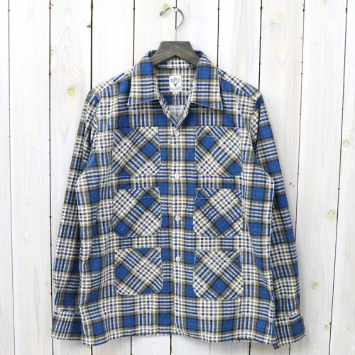 『6 Pockets Classic Shirt-Printed Flannel/Plaid』(Blue)