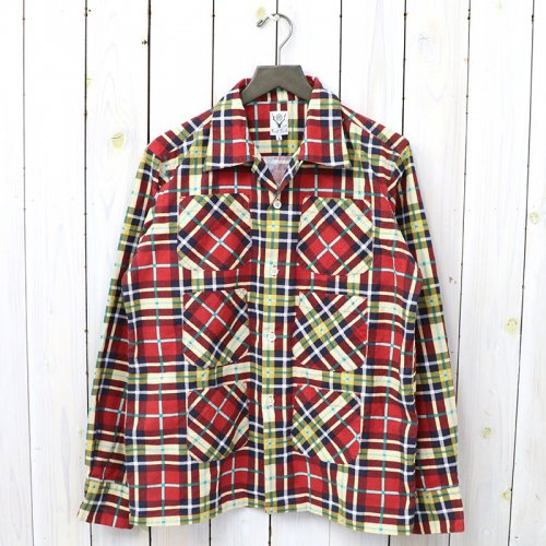 『6 Pockets Classic Shirt-Printed Flannel/Plaid』(Red)
