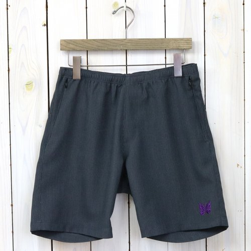 『Warm-up Short-Stripe Poly/R Twill』(Charcoal)