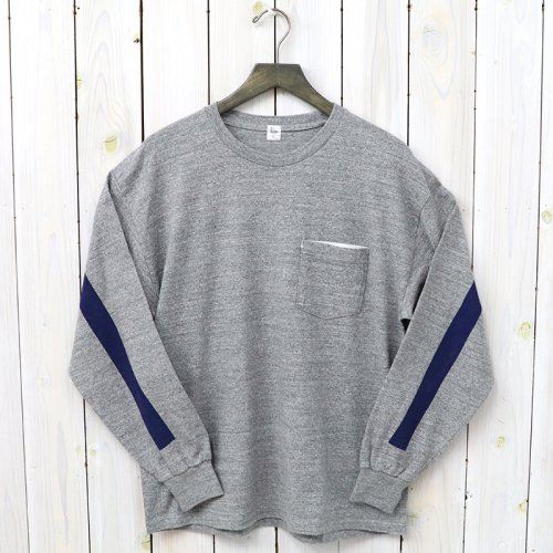 『Weat Coast Long Sleeved Tee』(Feather Grey/Navy Line)