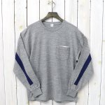 Kaptain Sunshine『Weat Coast Long Sleeved Tee』(Feather Grey/Navy Line)