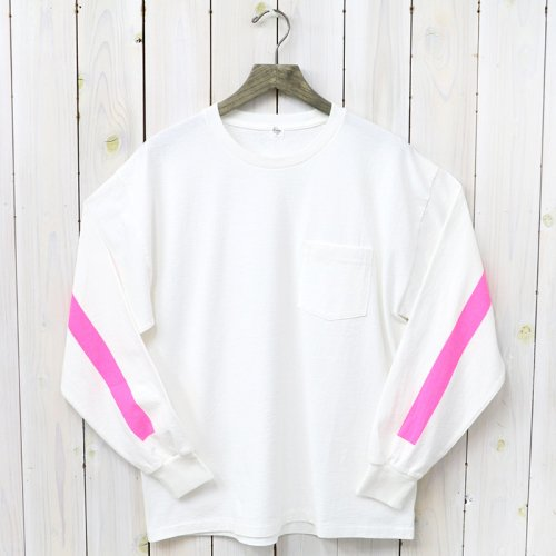 『Weat Coast Long Sleeved Tee』(White/Pink Line)