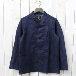 Needles『Oriental Button Stand Collar Coverall-Linen Cloth/Paisley Print』(Navy)