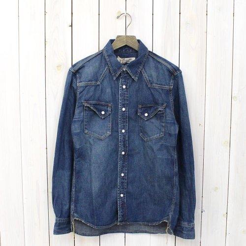 REMI RELIEF『デニムウエスタンシャツ-ノーマル』(BLUE)