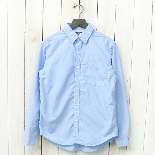 『Cotton Polyester Typewriter Shirt』(Sax)