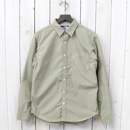 『Cotton Polyester Typewriter Shirt』(Beige)