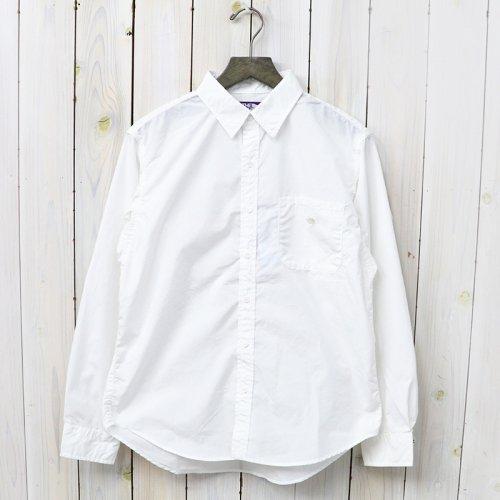 『Cotton Polyester Typewriter Shirt』(White)