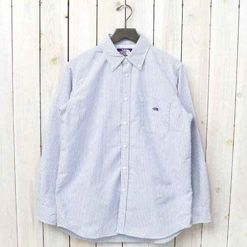 『Cotton Polyester Stripe OX B.D Big Shirt』(Navy)