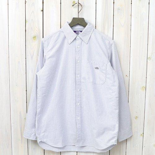『Cotton Polyester Stripe OX B.D Big Shirt』(Gray)