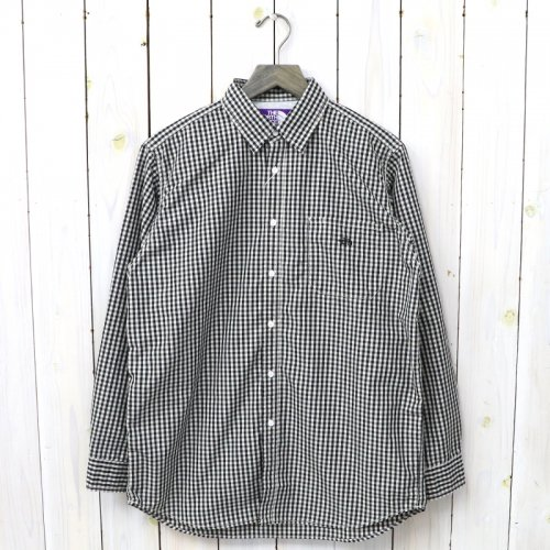 『Cotton Polyester Broad Check Big Shirt』(Dark Navy)