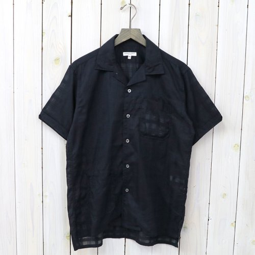 『Camp Shirt-Window Pane Cotton Dobby』(Dk.Navy)