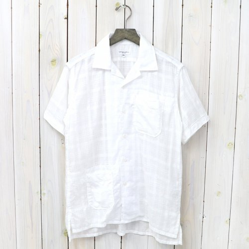 『Camp Shirt-Window Pane Cotton Dobby』(White)