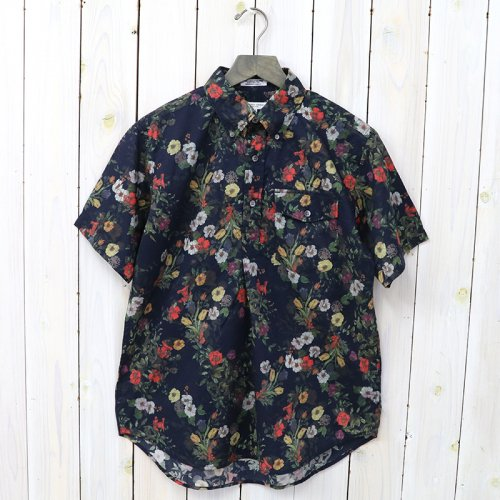 『Pop Over BD Shirt-Floral Sheeting』(Dk.Navy)