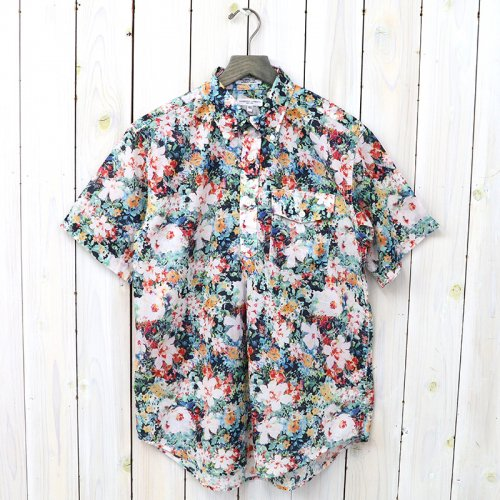 『Pop Over BD Shirt-Floral Sheeting』(White Watercolor)
