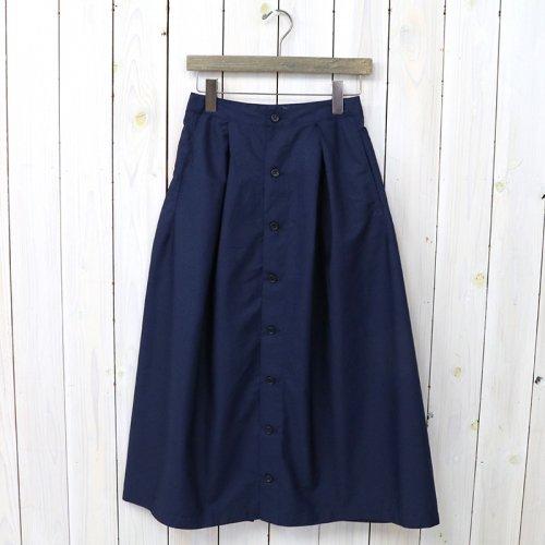 『Tuck Skirt-Superfine Poplin』(Dk.Navy)