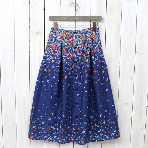 『Tuck Skirt-Big Floral Lawn』(Navy/Red)