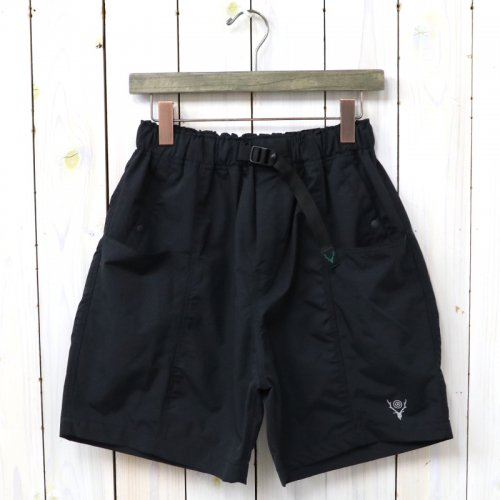 『Belted Center Seam Short-Nylon Tussore』(Black)
