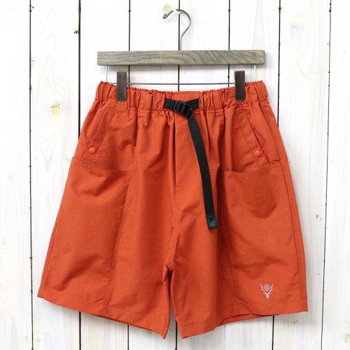 『Belted Center Seam Short-Nylon Tussore』(Orange)
