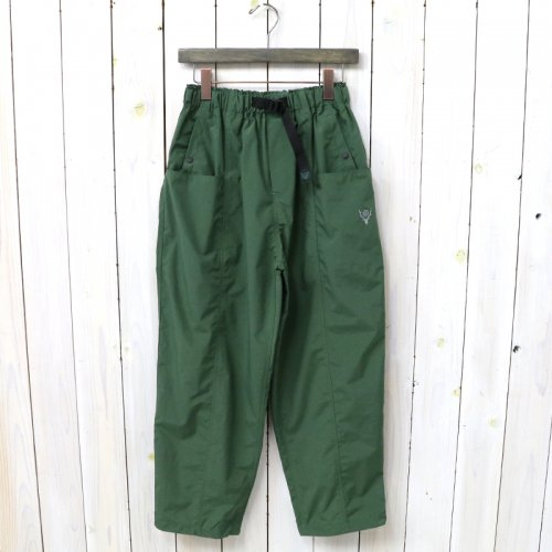 『Belted Center Seam Pant-Nylon Taffeta/Acrylic Coating』(Green)