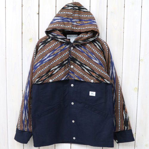 『GARDENER CRUISER BUD JACKET(OXFORD+IKAT)』(NAVY)