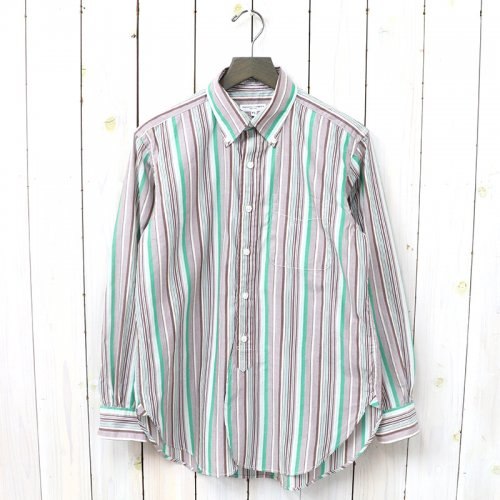 『19th BD Shirt-Vertical Regent St.』(Green/Brown)