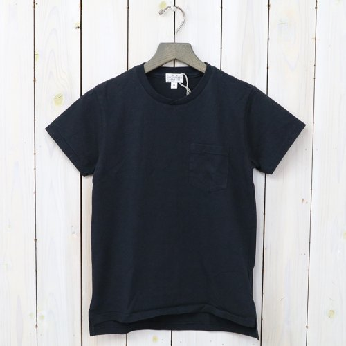 『Crossover Neck Pocket Tee-Women』(Navy)