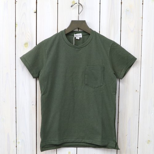 『Crossover Neck Pocket Tee-Women』(Olive)