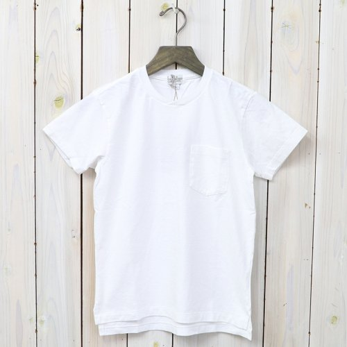 『Crossover Neck Pocket Tee-Women』(White)
