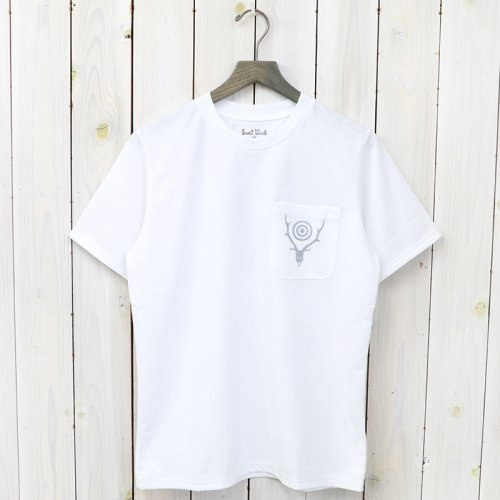 『Round Pocket Tee-Circle Horn』(White)