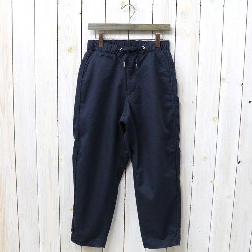 『Stretch Twill Shirred Waist Pants』(Navy)