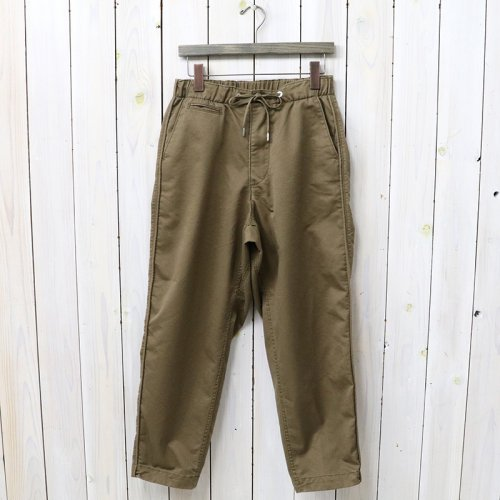 『Stretch Twill Shirred Waist Pants』(Brown)
