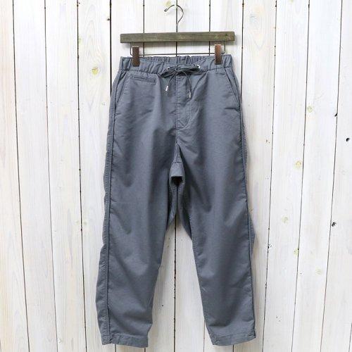 『Stretch Twill Shirred Waist Pants』(Gray)