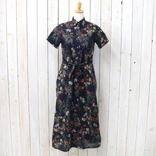 『BD Shirt Dress-Floral Sheeting』(Dk.Navy)