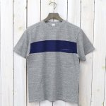 Kaptain Sunshine『Weat Coast Tee』(Feather Grey/Navy Line)