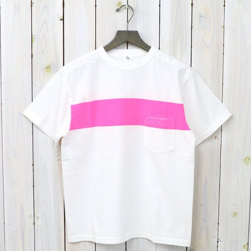 『Weat Coast Tee』(White/Pink Line)
