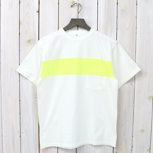 『Weat Coast Tee』(White/Yellow Line)