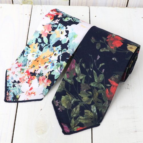 『Neck Tie-Floral Sheeting』